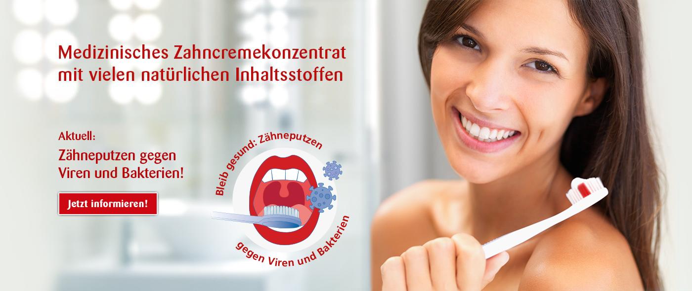 Ajona - Zähneputzen gegen Viren und Bakterien